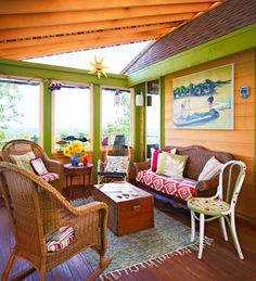Add a retractable canvas cover to turn part of a deck into a porch with a view! Midwest Living