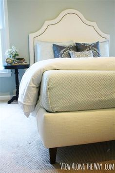 how to build an upholstered platform bed