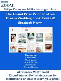 Congratulations  to the winners of our contest! Please ZoomPinterest@emanatepr.com to claim your prizes.