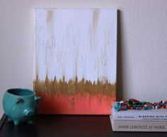 Coral Original 11x14 Ikat Painting by OpalandEve on Etsy, $38.00