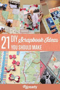 21 DIY Scrapbook Ideas You Should Make | http://diyready.com/cool-scrapbook-ideas-you-should-make/