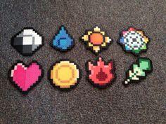 Pokemon Kanto Region Badges Full set of Magnets