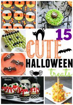 15 Cute Halloween Treats at GingerSnapCrafts.com #Halloween #treats