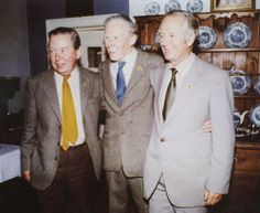 Brian & Donald Sinclair with Alf Wight. #All_Creatures_Great_And_Small #James_Herriot North #Yorkshire
