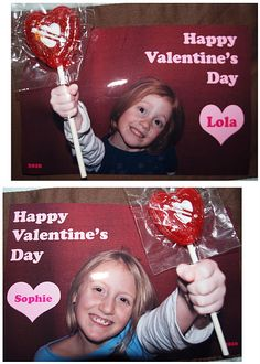 DIY Valentine's Cards with your kids pictures.  Super Cute and Super Easy!