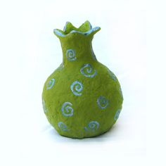 Paper Mache, Pomegranate, Handmade, Lime-Green, Home decor by Pomegranatree on Etsy https://www.etsy.com/listing/174741626/paper-mache-pomegranate-handmade-lime