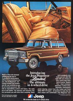 1979 Jeep Grand Wagoneer Limited ad a Jeep Zj, Auto Jeep, Jeep Wagoneer, Jeep Cars, Jeep Truck, Us Cars, Chevy Trucks, Jeep Willys, Jeep Pickup