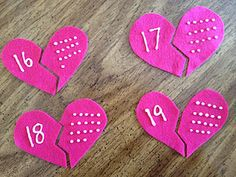 Felt Hearts: Counting and Matching