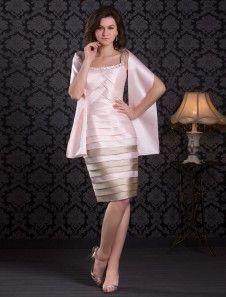 Cocktail Dresses 2018 soft pink Satin Sheath pleated tiered beading short Wedding  Guest Dress Satin Rose 692dea947b2f