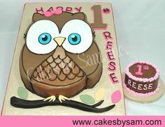 owl 1st birthday + smash cake