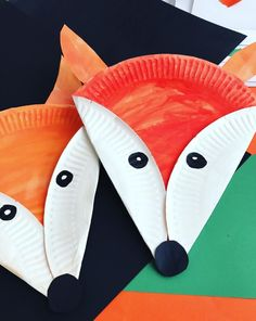 Paper plate Red Fox