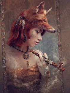 Red Fox by mary-petroff.deviantart.com on @deviantART