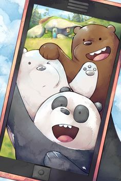 Just a cute fan work of a cute show Art (c) bingk Characters (c) We Bare Bears Bear Brothers Cute Panda Wallpaper, Cartoon Wallpaper Iphone, Bear Wallpaper, Cute Disney Wallpaper, Kawaii Wallpaper, We Bare Bears Wallpapers, Panda Wallpapers, Cute Cartoon Wallpapers, Ice Bear We Bare Bears