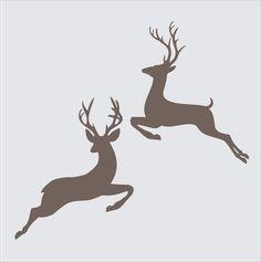Christmas Signs Stencils 2 Jumping BUCK por SuperiorStencils