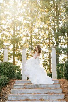 The Ashford Estate // Fall Wedding by NJ Photographer Off BEET Productions// Bridal portrait // Hayley Paige Wedding dress