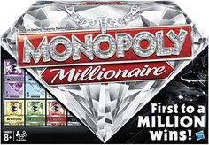 """Monopoly Millionaire """"The Fast-Dealing Property Trading"""" Board Game Product Overview Monopoly Millionaires From the Manufacturer It's a brand new way to play th Monopoly Board, Monopoly Game, Board Game Online, Online Games, Fortune Cards, Monopole, Walmart Deals, Traditional Games, Thing 1"""