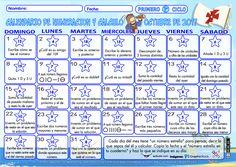 Calendario de numeración y cálculo del mes de octubre - Actiludis