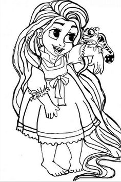 Disney Baby Rapunzel Coloring Pages Free Online Printable Sheets For Kids Get The Latest Images