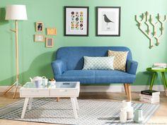 Un joli salon scandinave avec un tapis aux motifs graphiques  http://www.homelisty.com/tapis-scandinave/