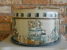 VINTAGE PIE and CAKE Carrier with carrying handle 4 pieces 1950's.... $69.95, via Etsy.