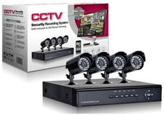 Security surveillance Camera System full D1 H.264 4CH Network CCTV system DVR with 4PCS Night IR Waterproof camera price, review and buy in Egypt, Amman, Zarqa | Souq.com