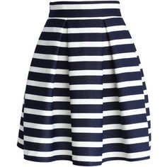 Chicwish Stripes Pleated Tulip Skirt (750515 BYR) ❤ liked on Polyvore featuring skirts, bottoms, faldas, jupes, saias, multi, blue pleated skirt, pleated skirt, blue striped skirt and tulip skirt