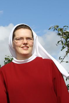 Here is novice Sr. Maria about to make first vows