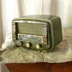 Vintage French radio retro decor by lapomme on Etsy, $295.00