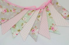 Shabby Chic Party Bunting  TILDA in Soft by BeautifulThinkingUK