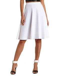 Full Midi Skirt: Charlotte Russe