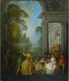 Dancers in a Pavilion (1720s). Jean-Baptiste Pater (French, 1695-1736).