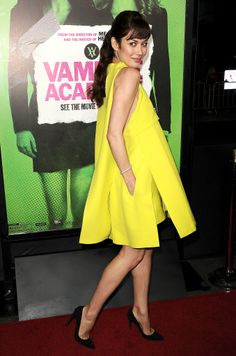 Olga Kurylenko in Dior Haute Couture at the LA premiere of Vampire Academy.