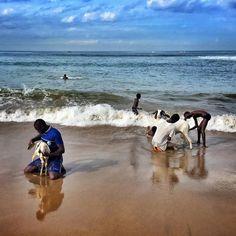 Morning bath time, Dakar, Senegal by Jane Hahn Freelance photographer based in Dakar, Senegal covering West Africa and beyond