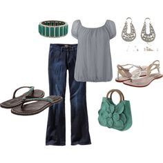 Silver and turquoise, created by karen-scott-hansen on Polyvore