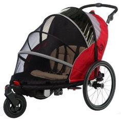 I want this!!! jogging stroller and bike trailer in one!!!!     Schwinn Joyrider Bicycle Trailer (Red/Gray)