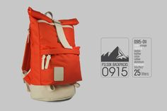 Backpack Pilsok 11 Orange Travel Backpacks Colourful by Pilsok