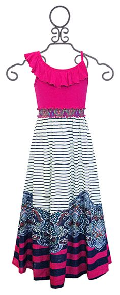 Truly Me Hot Pink Maxi Dress for Tweens
