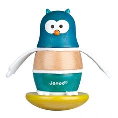Janod Owl Stacker and Rocker Fun owl shaped figure Constructed from solid wood Great for learning object recognition and orientation Perfect for ages 12 months and above Designed in France by Janod Educational Toys For Kids, Learning Toys, Building For Kids, Building Toys, Toys For Boys, Kids Toys, Stacking Blocks, Toddler Age, Crocodiles