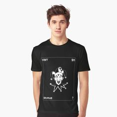 'Funny Joker Clown Card' Graphic T-Shirt by Artemix Joker Clown, Funny Joker, Apparel Design, Dc Comics, Printed, Awesome, People, Mens Tops, Cards