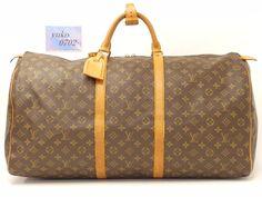 r58766 Auth LOUIS VUITTON Monogram 841SA KEEPALL 60 Travel Boston Bag M41422