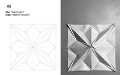 Fabric Manipulation Techniques, Textiles Techniques, Origami Paper Art, Paper Crafts, 3d Origami, Origami Geometric Shapes, Kirigami Templates, Origami Techniques, Origami Architecture