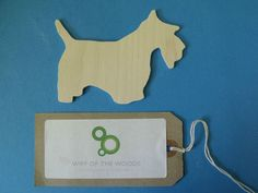 10 Birch ply wooden Scottie dog decoration, gift tag, pyrography, decopatch