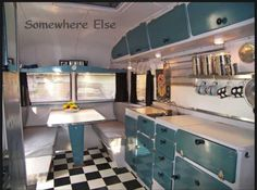 Wow, this certainly is retro glamvaning in style!  Fab upgrade makes this a space everyone will want to spend time in . . .