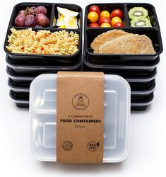 10 Pack 32oz Lunch Box Meal Prep Containers 3 Compartment With Lids And Digestion Helping Food Storage Containers Kitchen, Dining & Bar