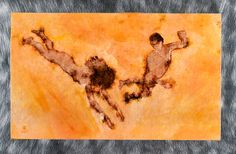 SKINNY DIP, from the Swimmers series, digital print onto aluminum, acrylic over and under painting.  12x21 inches, 2006 Artist: timothy burns