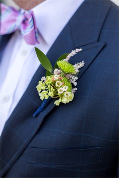 Anne Lee Photography.  Bow Tie - Collard Greens.  Flowers- Kinship Floral