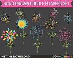 Easy flower doodles