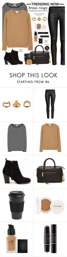 """""""Trending Now: Brass Rings / Chloé 'Lyzbeth' set of three rings"""" by palmtreesandpompoms ❤ liked on Polyvore featuring Chloé, Yves Saint Laurent, Wooyoungmi, Nly Shoes, Marc Jacobs, Homage, Lancôme, e.l.f., Christian Dior and CO"""