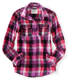 long sleeve brooke plaid woven shirt