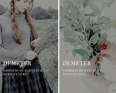 demeter (Δημήτηρ) - greek goddess of harvest & agriculture Greek Mythology Gods, Greek Gods And Goddesses, Roman Mythology, Demeter Greek Goddess, Yasmine Galenorn, Goddess Names, Fantasy Names, Greek Names, Roman Gods
